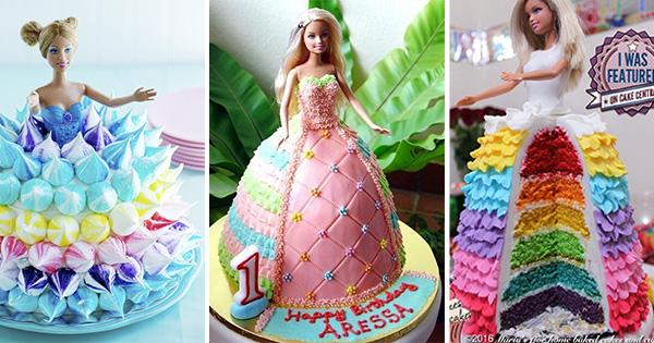 🎂 35 Tartas Vestido de Muñecas Barbie