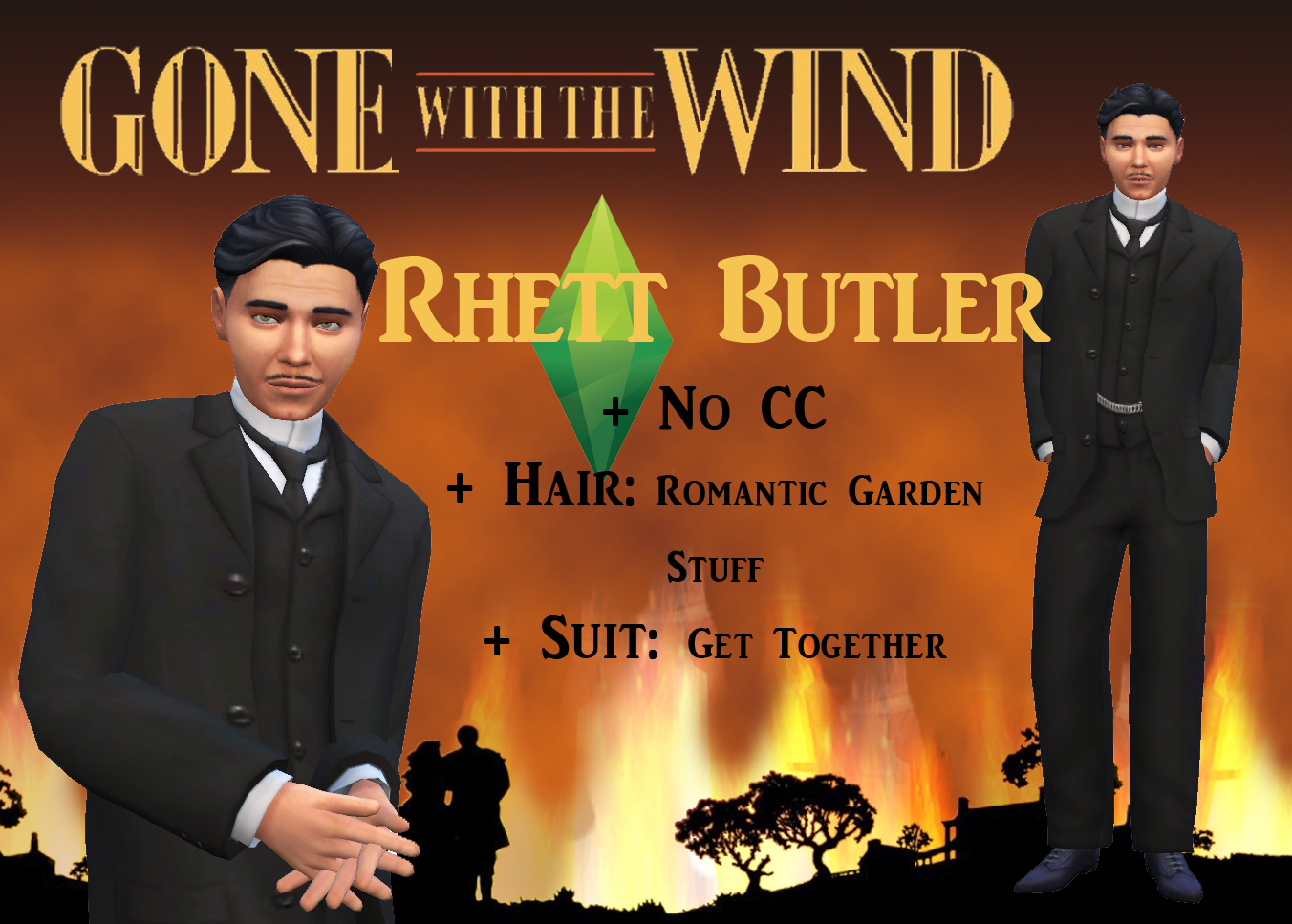 Ts4 scarlet rhett from gone with the wind history lover 39 s sims blog - Gone with the wind download ...