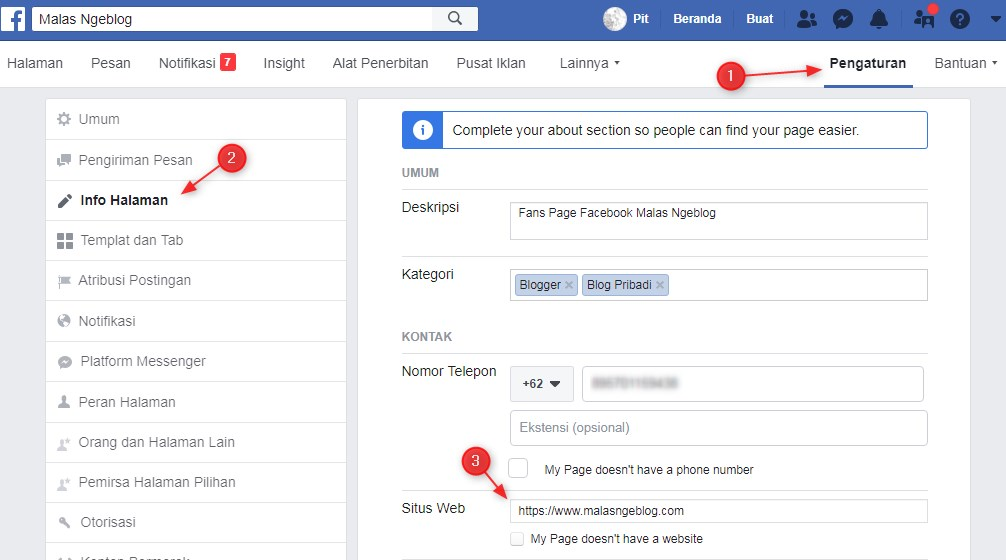 Menanam Backlink Di Fans Page Facebook