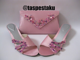 Baby Pink Tas Pesta Cantik Mewah