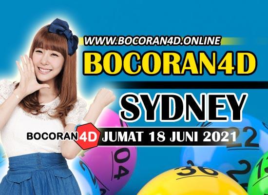 Bocoran Togel 4D Sydney 18 Juni 2021