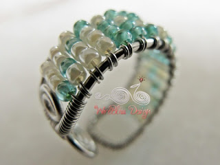 Adjustable Wire Wrap Beaded Ring