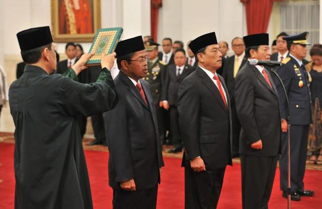 Jokowi Lantik Idrus Marham Menggantikan Khofifah Indar Parawansa