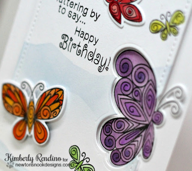 butterflies | quilling | handmade card | birthday card | butterfly | Newton's Nook Designs | kimpletekreativity.blogspot.com | clear stamps