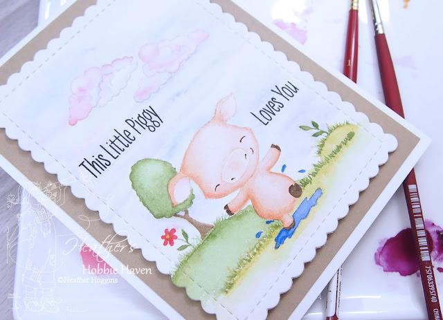 Heather's Hobbie Haven - No Line Watercolor - MFT - Piggy Pebbles