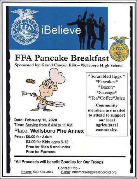 2-15 FFA Breakfast Wellsboro Fire Annex