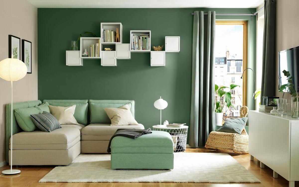 warna-hijau-pada-interior-rumah