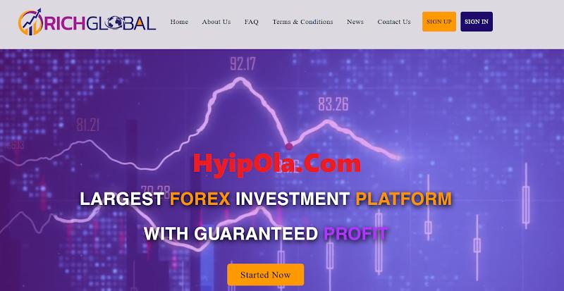 [SCAM] Review Richglobal Trade - Đầu tư vào công ty Forex lãi từ 1.4% hằng ngày - Thanh toán Manual