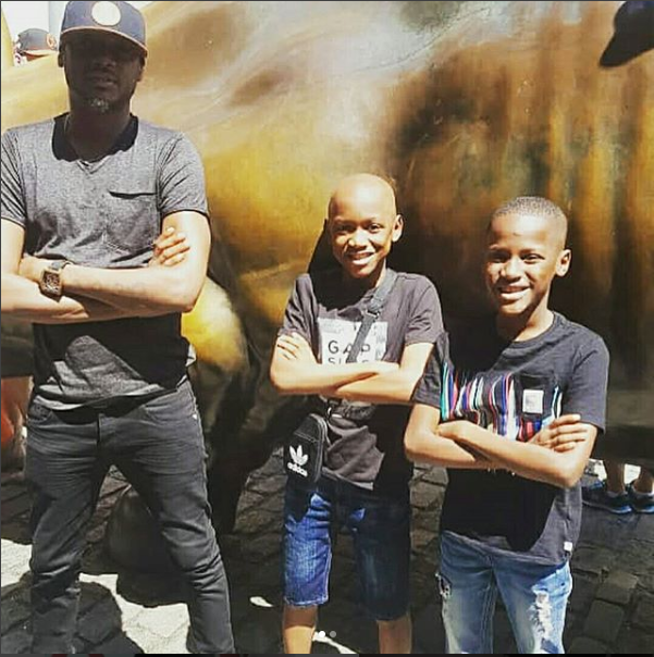 Tuface Strikes A Pose With His Sons As They Step Out Together In New York