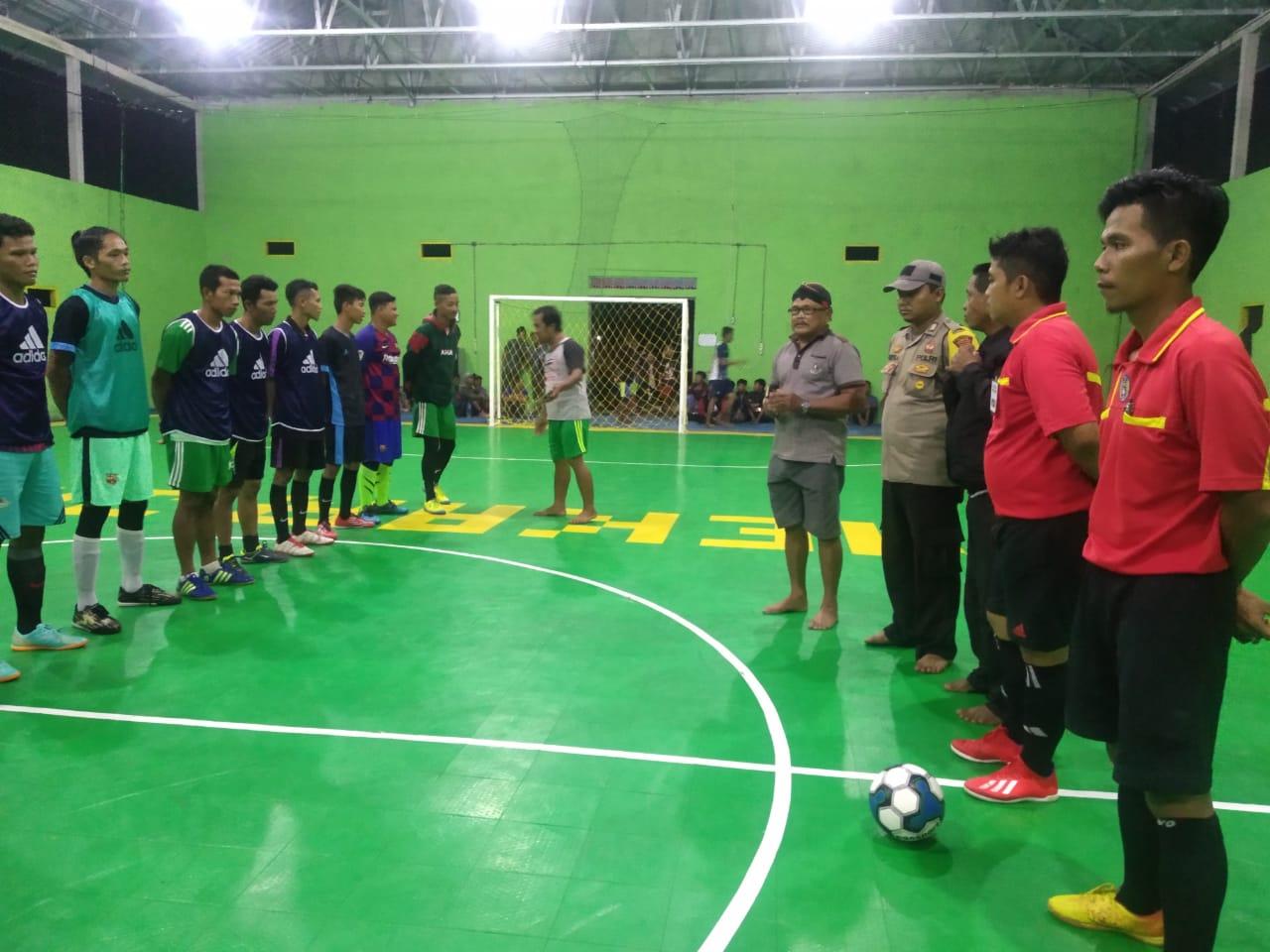 Desa Mekar Jaya Bangun GOR Futsal