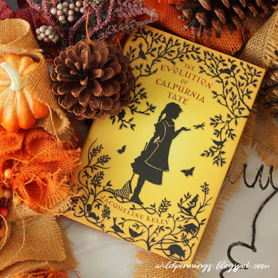 yellow book nestled in autumn decorations