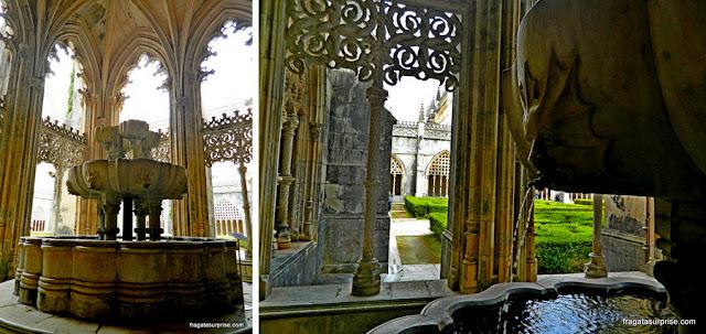 Lavatório no Claustro Real, Mosteiro da Batalha, Portugal