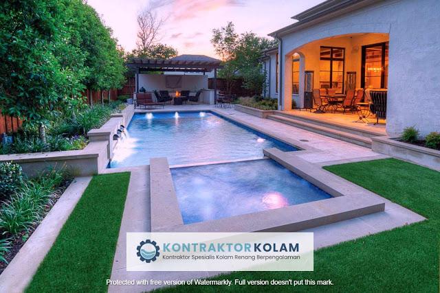 desain kolam renang rectangular pool Manado