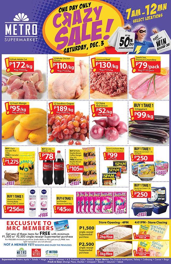 Manila Shopper Metro Stores Supermarkets One Day Sale