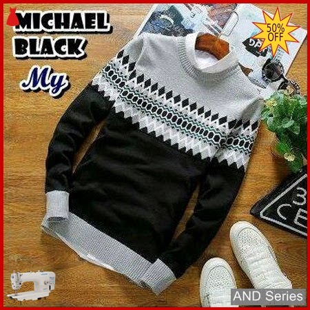 AND249 Sweater Pria Michael Hitam Murah BMGShop