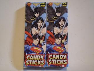 Back of Superman Candysticks box version 1