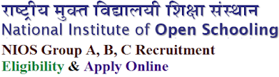 NIOS Group A, B, C Recruitment 2017 Eligibility & Apply Online for EDP Supervisor, Asst Posts