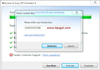 Enter License Key and Click Activate.