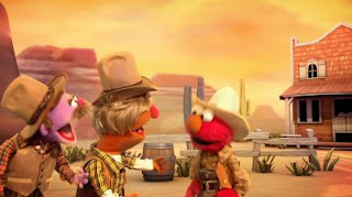 Elmo the Musical Cowboy the Musical, the Count By Two Kid, Double Double Dude Dude Ranch Ranch, velvet, Sesame Street Episode 4419 Judy and the Beast season 44