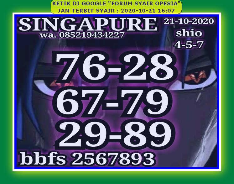 Kode syair Singapore Rabu 21 Oktober 2020 79