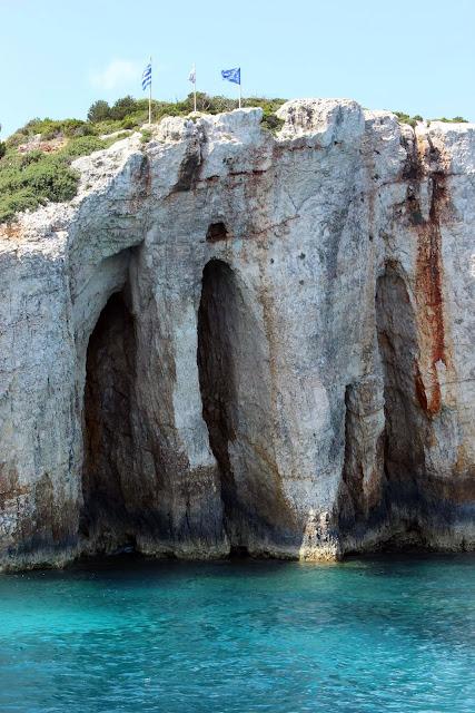 Greece, Zakynthos, Cruise, Limestone, stone, arch, view, blue, water, clear, beautiful