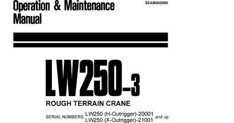 Free Automotive Manuals: KOMATSU LW250-3 OPERATION