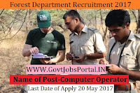Government of Chhattisgarh Forest Department Recruitment 2017–Computer Operator