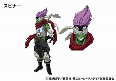 Ryo Iwasaki como Spinner, cuyo Quirk es desconocido