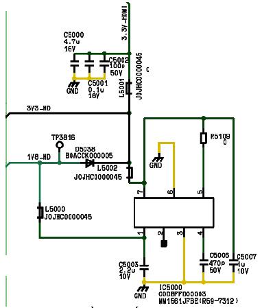H́nh 43 - Mạch ổn áp tuyến tính hạ áp từ 3.3V-HD xuống thành điện áp 1.8V-HD