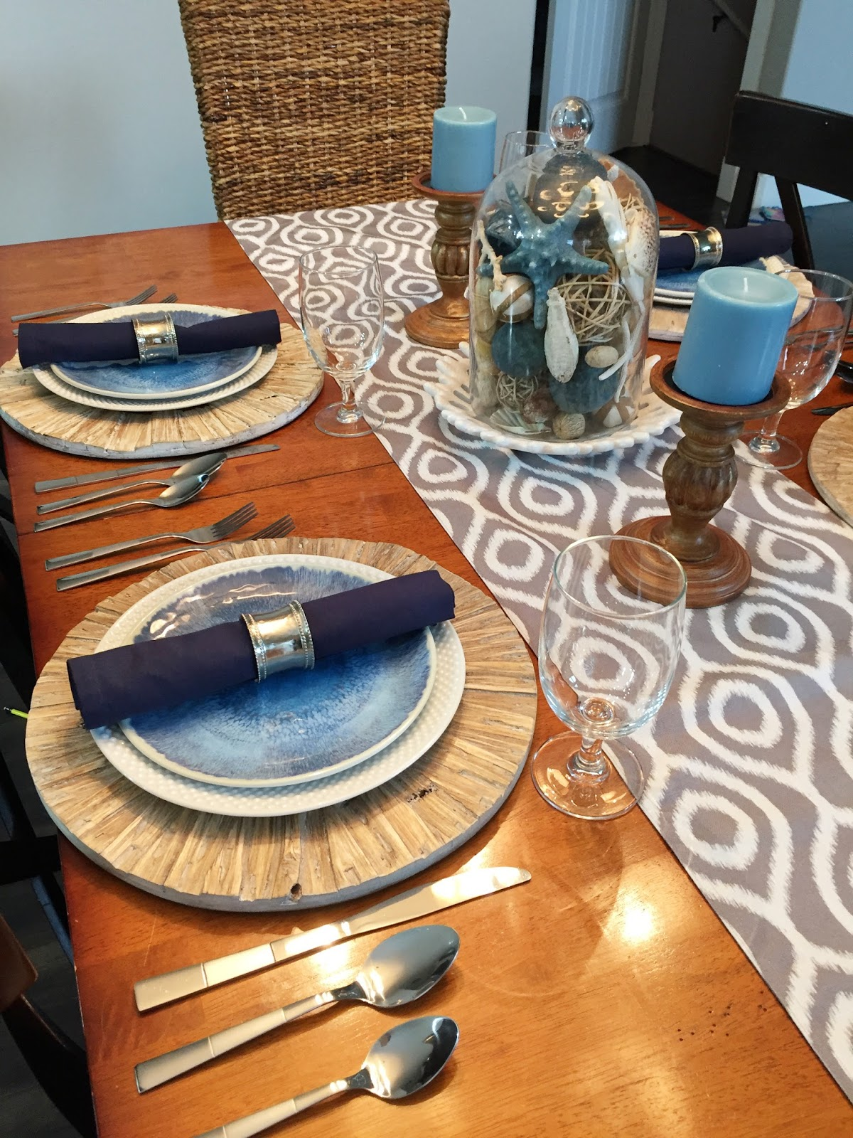 Jen gallacher how to style a coastal kitchen table for Nautical kitchen table
