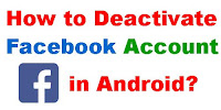 how to deactivate facebook on app 2020