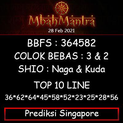 Prediksi Angka Singapore 28 Februari 2021