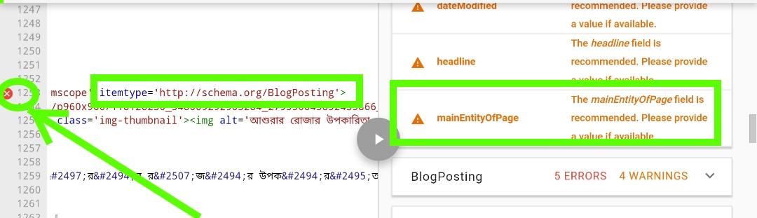 Website Structured Data Errors গুলি দেখবেন কিভাবে?