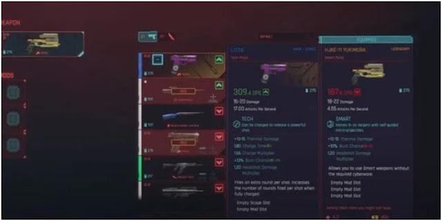 مسدس Lizzie في لعبة Cyberpunk 2077