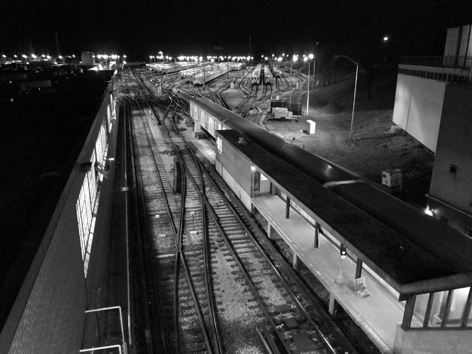 Greenwood Yard at night