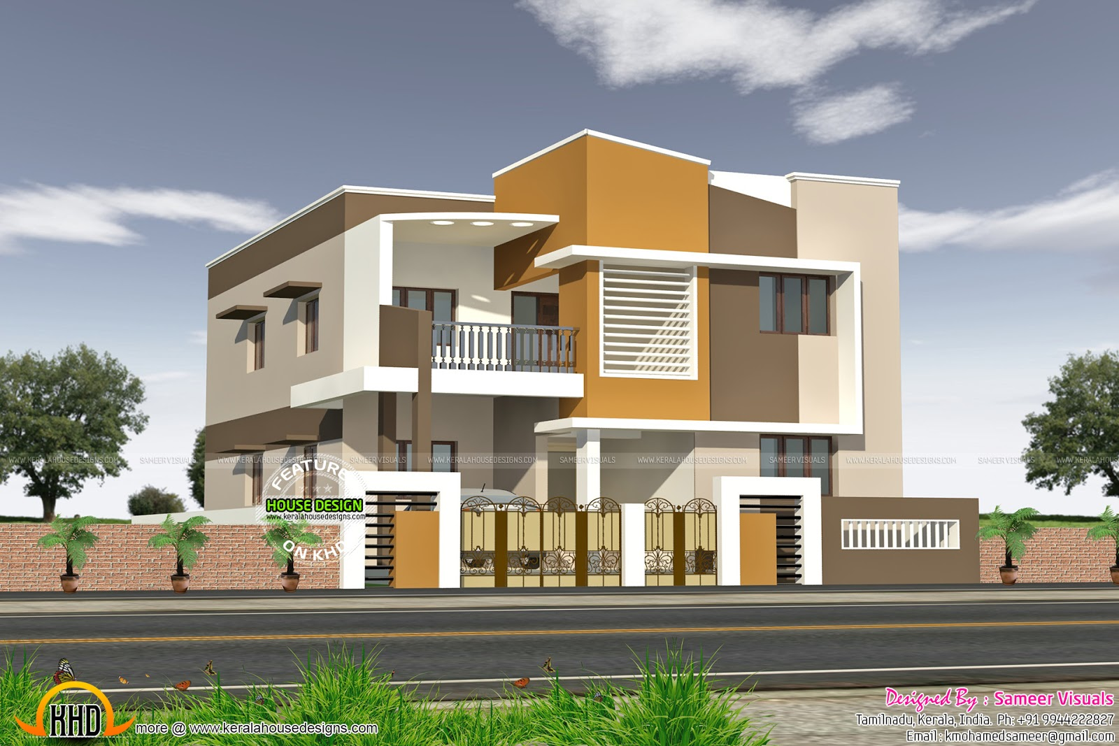 Modern south indian house kerala home design and floor plans for Indian house style pictures