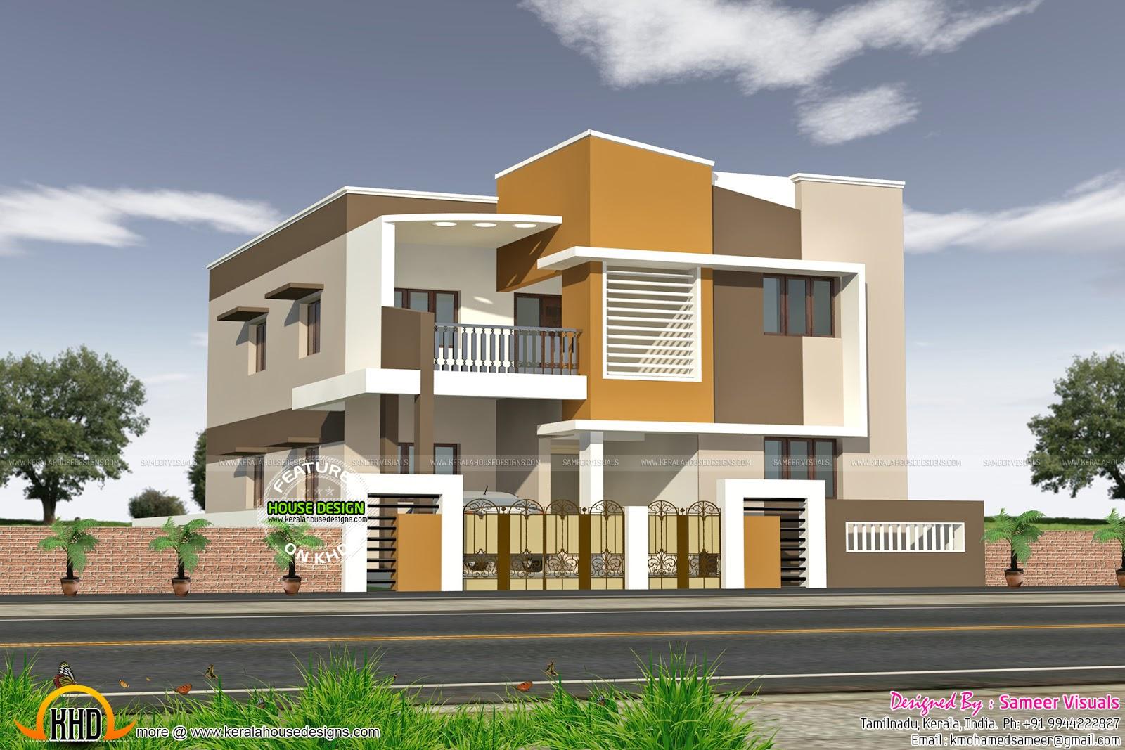 Modern south indian house kerala home design and floor plans for South indian home plans and designs