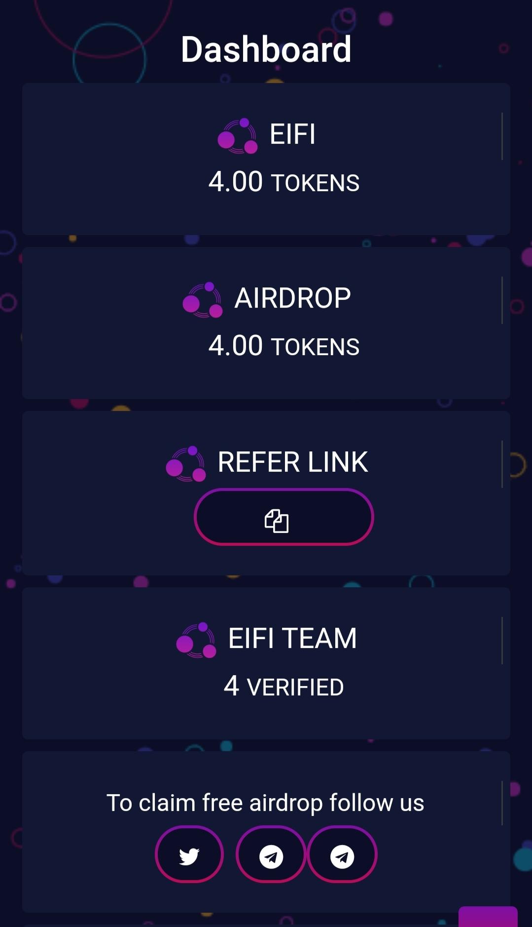 Eifi coin airdrop