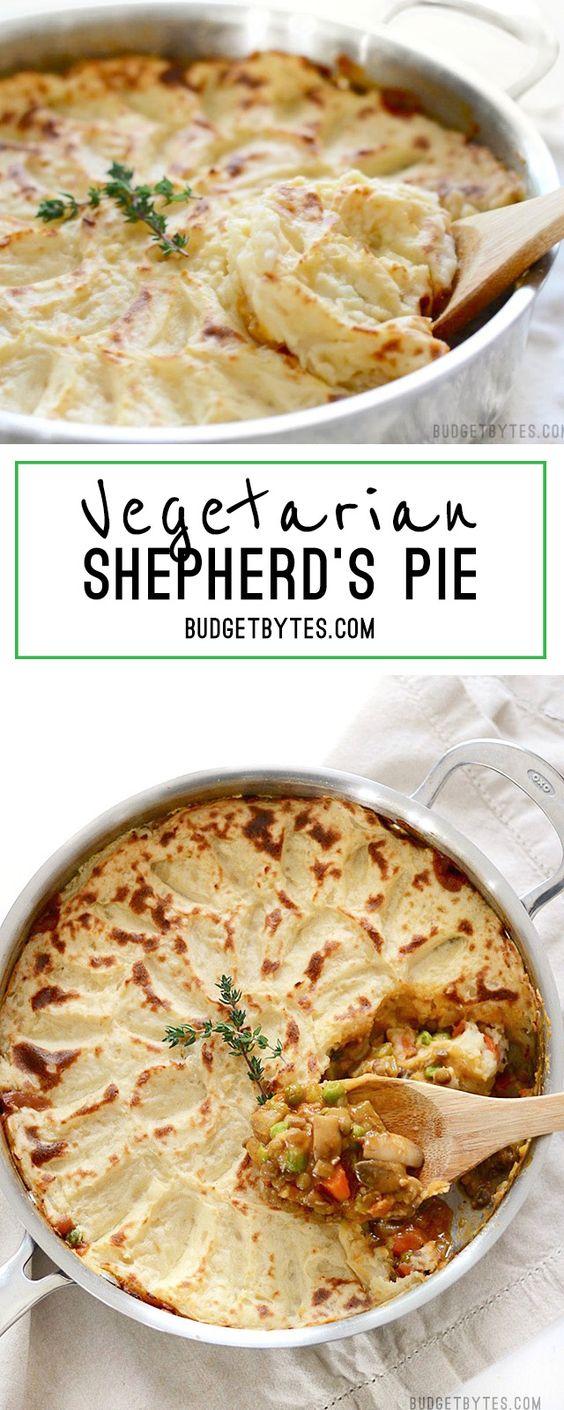 VEGETARIAN SHEPHERD'S PIE #vegetarian #vegetarianrecipes #veggies #shepherd #pie #veganrecipes