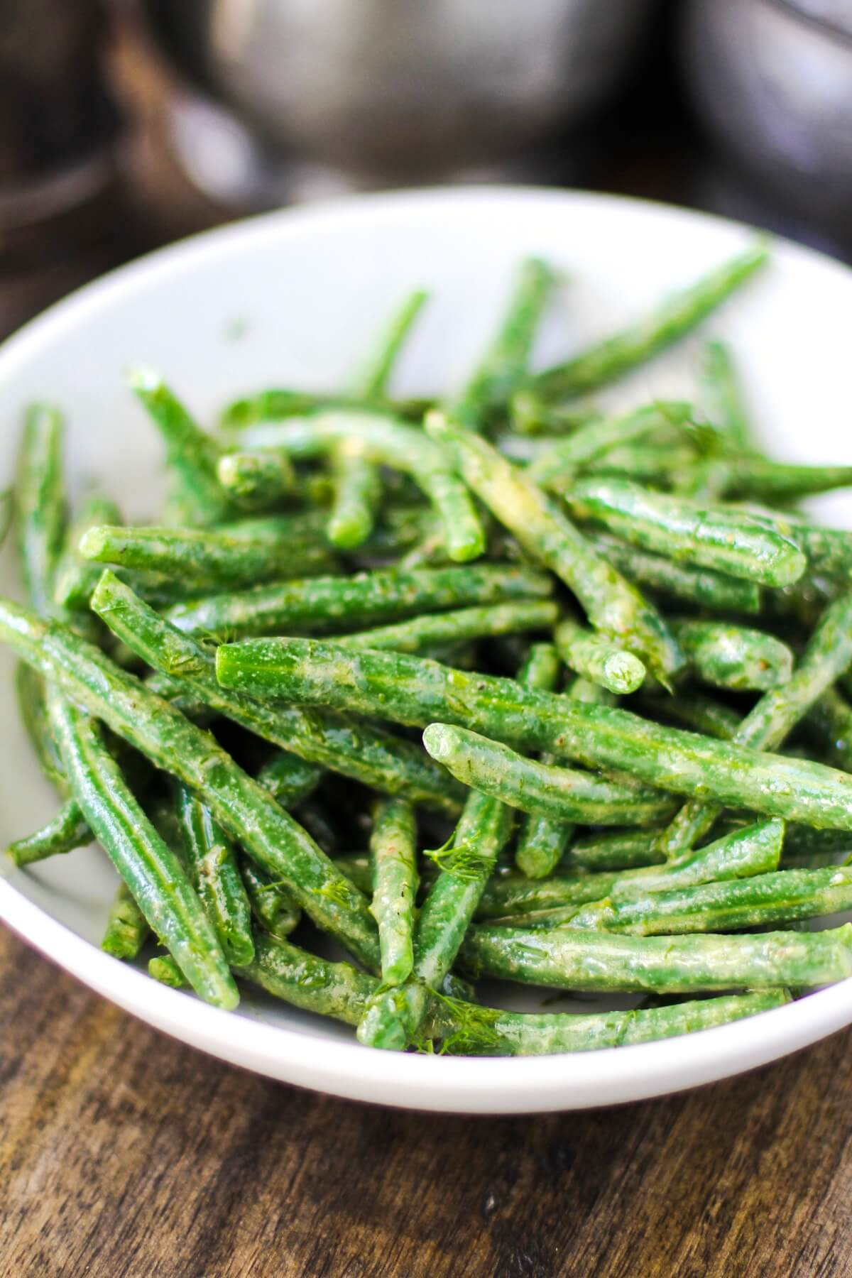 Haricot Vert Salad in a bowl.