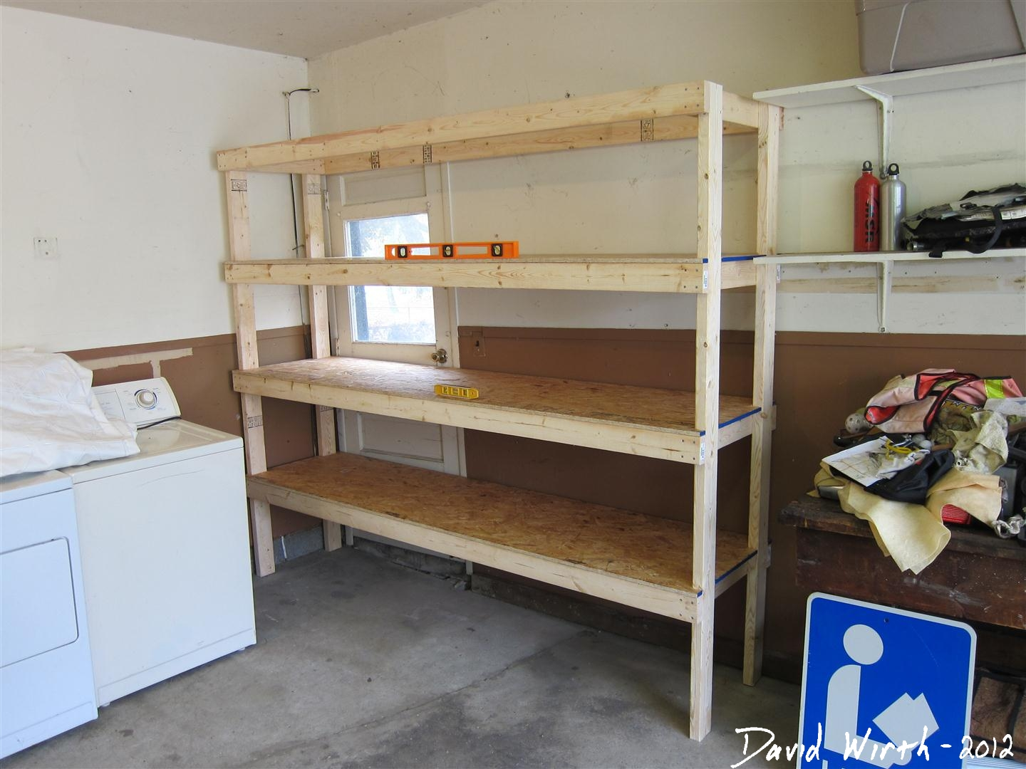 Build Garage Wall Shelves How To Build A Shelf For The Garage