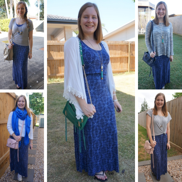 5 ways to layer up a jersey empire navy maxi dress awayfromtheblue