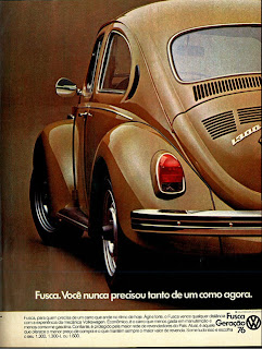 Volkswagen. brazilian advertising cars in the 70. os anos 70. história da década de 70; Brazil in the 70s; propaganda carros anos 70; Oswaldo Hernandez;