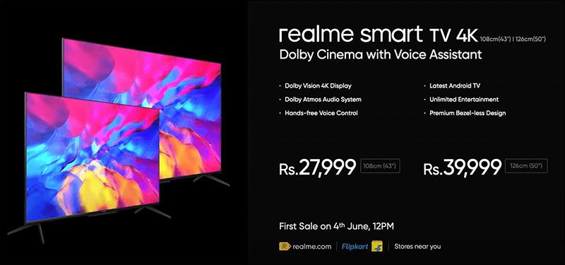 realme smart TV 4K series price