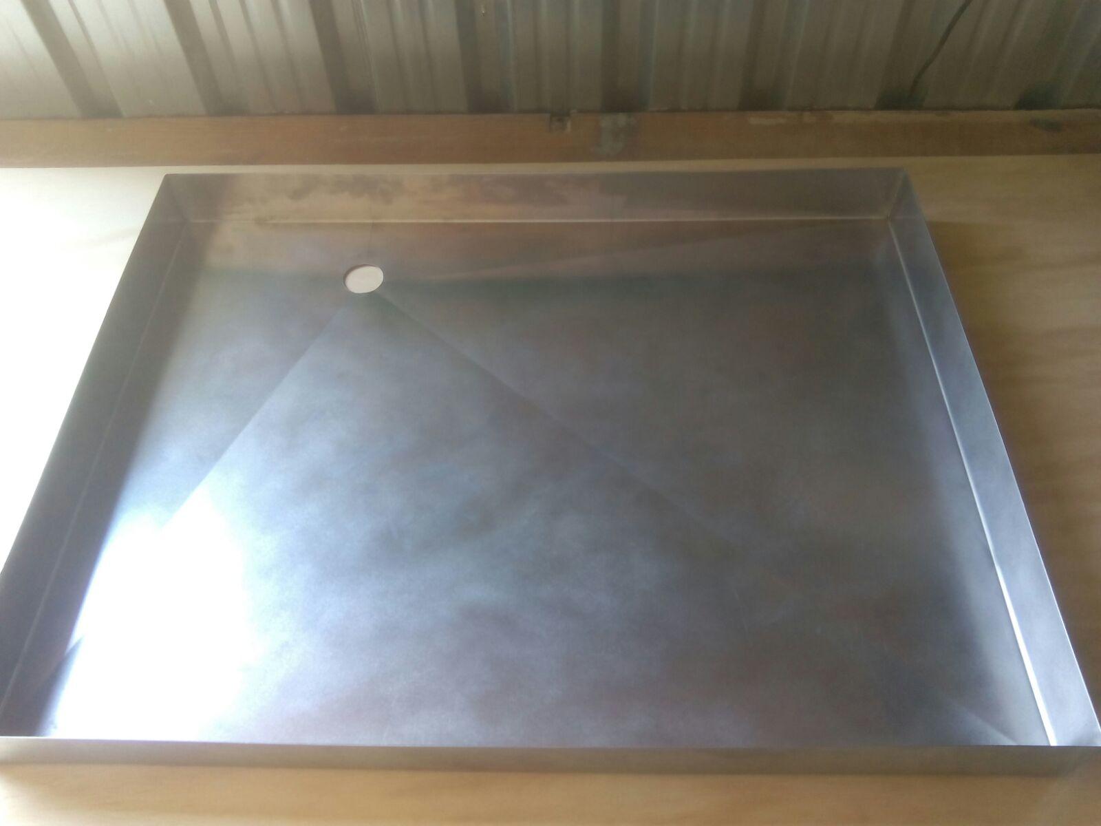 Restauracaravan plato ducha de acero inoxidable a medida for Accesorios plato ducha