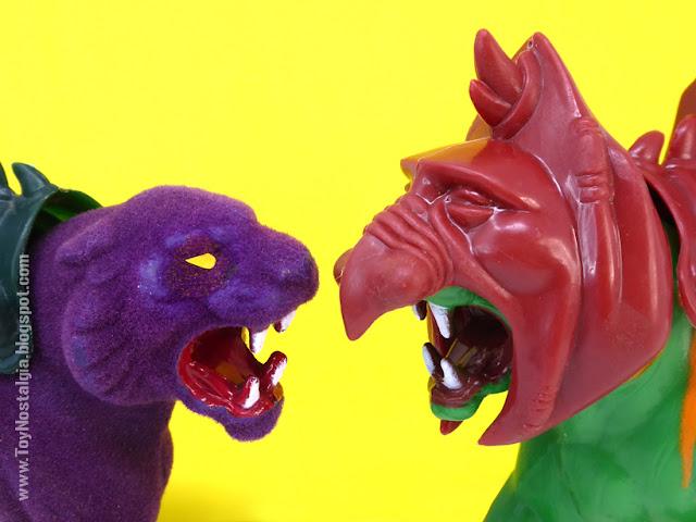PANTHOR Y BATTLE CAT Vintage enfrentados Masters Of The Universe (MOTU ORIGINS MATTEL)
