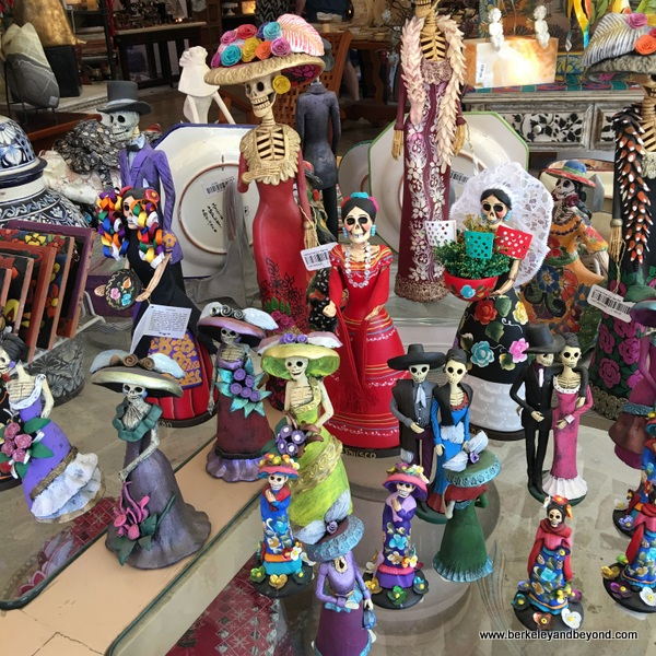 Day of the Dead dolls at JMB Gallery shop in Bucerias, Mexico