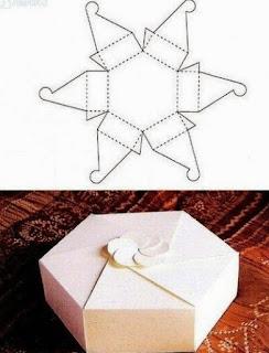 Geometrik Şekillerde Hediye Paketi Yapımı, Resimli Açıklamalı  4