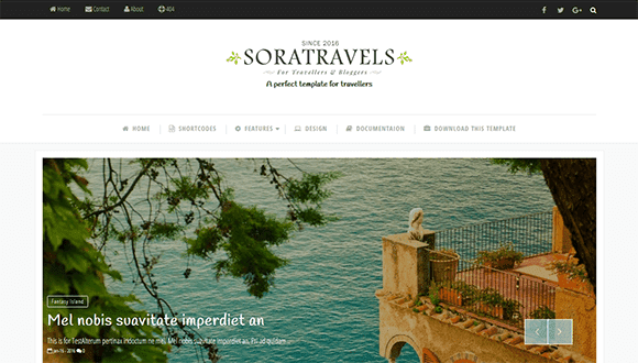 Sora Travels responsive blogger template