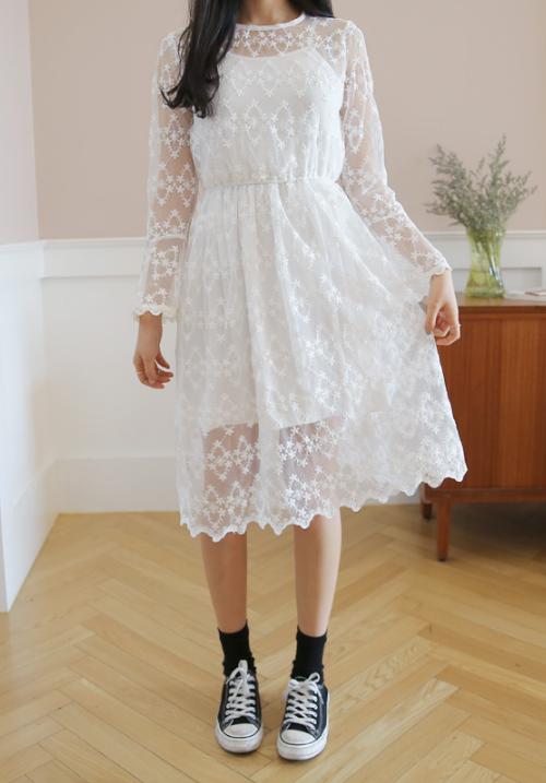 Floral Lace Print Dress